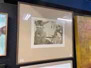 Sale 8924 - Lot 2002 - Louis Guest - Room 1978 aquatint ed. 5/6, 51 x 57.5cm, signed
