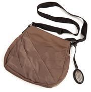 Sale 9090F - Lot 86 - A Pierre Cardin Shoulder bag in mocha with adjustable black strap 28x32cm