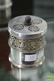 Sale 8285 - Lot 35 - Silver Plate Candle Holder