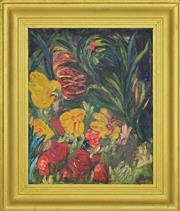 Sale 8349A - Lot 138 - Alma Atherton (XX) - Still Life, Flowers 49 x 39cm