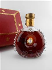 Sale 8531 - Lot 1701 - 1x Remy Martin Louis XIII Cognac - Baccarat Crystal decanter with stopper and glass in box