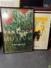 Sale 8561 - Lot 2091 - A Group  of (5) Assorted Artworks incl: Exhibition Posters of Van Gough Museum; Toulouse Lautrec; Paris C19th, Margaret Olley and Or...