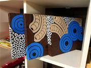 Sale 8695 - Lot 2076 - Cristy Barnes - Waterholes, Witchetty Grubs & Rain, 2007 (triptych) 30.5 x 40.5cm; 30 x 40cm; 30.5 x 40.5cm