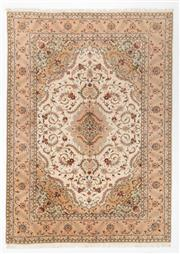 Sale 8760C - Lot 29 - A Persian Tabriz Wool And Silk Pile, 343 x 248cm