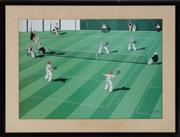 Sale 8990H - Lot 94 - James Willebrandt, Tennis Match, Lithograph, frame size 67cm x 88cm