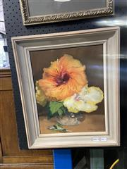 Sale 8978 - Lot 2003 - G Hammond, Hibiscus, oil on board, 47 x 40 cm, signed lower right