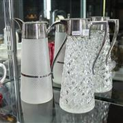 Sale 8336 - Lot 88 - Cut Crystal Silver Plate Topped Claret Jug with Another