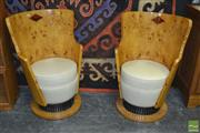 Sale 8361 - Lot 1012 - Pair of Deco Style Tub Chairs