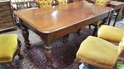 Sale 8402 - Lot 1014 - Late C19th Cedar Dining Table with Turned Baluster Shaped Legs