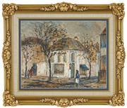 Sale 8449A - Lot 506 - Doreen Gadsby (1926 - ) - The Corner Shop, Paddington 38 x 48cm