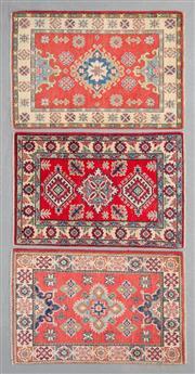 Sale 8499C - Lot 78 - 3 x Afghan Kazak 90cm x 58cm