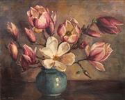 Sale 8665 - Lot 595 - Dora McRae (1908 - 2003) - Magnolias 43 x 52cm