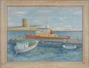 Sale 8751 - Lot 2033 - Roger Pietri (1921 - 2013) - Old Fort, Venice 44 x 60cm