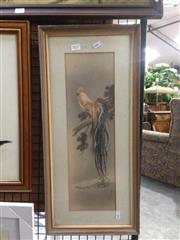 Sale 8767 - Lot 2027 - Chinese School - Rooster ink and watercolour, 59 x 27.5cm (frame) inscribed lower -