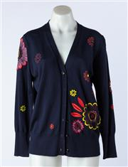 Sale 9003F - Lot 80 - A Burberry Floral Embroidered Cardigan, size S