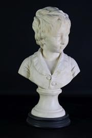 Sale 8977 - Lot 10 - After Houdon - Composite Bust of a Youth