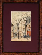 Sale 9011 - Lot 2031 - Edmund Champon (1879 - ?) - Parisian Street Scene 23.5 x 15.5 cm (frame: 44 x 34 x 2 cm)