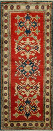 Sale 8353C - Lot 40 - Afghan Kazak 166cm x 68cm