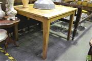 Sale 8398 - Lot 1033 - Oak Square Form Breakfast Table