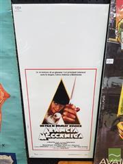Sale 8421 - Lot 1004 - Vintage and Original Italian Version for Clockwork Orange Stanley Kubrick Poster (70cm x 33cm)