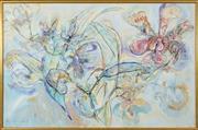 Sale 8459 - Lot 565 - Ian Van Wieringen (1944 - ) - Untitled, 1983 (Orchids) 110 x 167cm