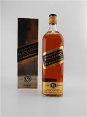 Sale 8498 - Lot 1748 - 1x Johnnie Walker 12YO Black Label Blended Scotch Whisky - 1000ml in box, old bottling