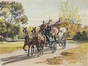 Sale 8722 - Lot 598 - John Cornwell (1930 - ) - Afternoon Outing, Hobartville, Richmond 43.5 x 58.5cm