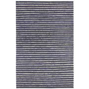 Sale 8860C - Lot 36 - An India Rustic Jute/Wool Ribbed Carpet in Navy, in Handspun Jute & Wool 160x230cm