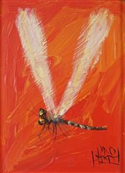 Sale 8881 - Lot 563 - Kevin Charles (Pro) Hart (1928 - 2006) - Dragonfly, c1980s 16 x 11.5 cm