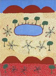 Sale 8878 - Lot 2007 - Chloe Morton Kngwarreye - Countryside 76 x 57cm