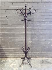 Sale 8962 - Lot 1048 - Turned Timber Coat Stand (H:186cm)