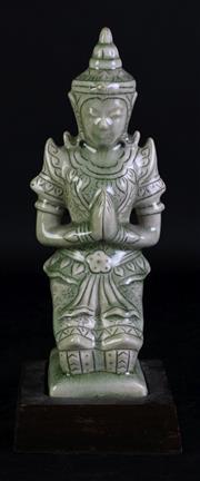 Sale 8994 - Lot 67 - Ceramic Thai Kneeling Buddha H: 28cm