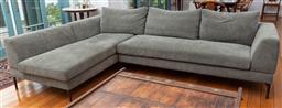 Sale 9191H - Lot 34 - King Living L-Shaped modular fabric lounge in olive tone, L 290 x W 190 cm