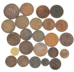 Sale 9190E - Lot 92 - A Collection of Australian tokens and coins