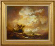 Sale 8374 - Lot 506 - Carl Stringfellow (1954 - ) - Golden Glow 49.5 x 59.5cm