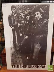 Sale 8421 - Lot 1049 - Vintage and Original The Depressions Promotional Poster (59.5cm x 41.5cm)
