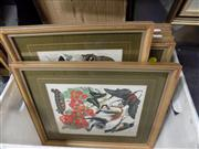 Sale 8429A - Lot 2031 - 6 Framed Bird & Animal Prints