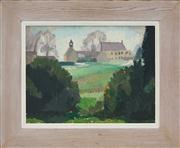 Sale 8449A - Lot 549 - Roland Wakelin (1887 - 1971) - Parramatta Park, c1940 31 x 41cm