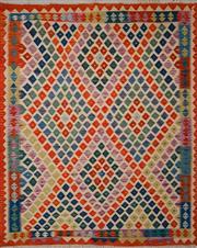 Sale 8455C - Lot 36 - Afghan Chobi Kilim 211cm x 162cm