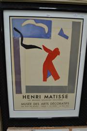 Sale 8453 - Lot 2005 - Henri Matisse, framed original lithograph, Paris Exhibition 1961, frame size 81 x 58cm