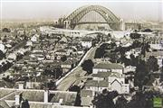 Sale 8477 - Lot 100 - Early Panoramic Photograph of Sydney from the North detailing the finishing of the Harbour Bridge Freeway
