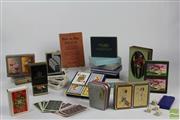 Sale 8508 - Lot 84 - Collection of Art Deco & Later Playing Cards incl De La Rue, Erotic Deck, GE Trains & Royal Memorabilia
