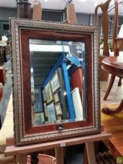 Sale 8601 - Lot 1106 - Gilt & Timber Framed Bevelled Edge Mirror (63 x 49cm)