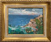 Sale 8759 - Lot 2012 - Lewis Staples (2 works): View of Bronte; Water on Shoreline, oil/pastel, each signed/framed -