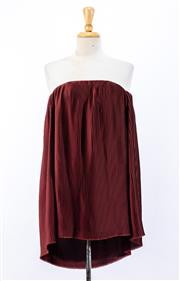 Sale 8891F - Lot 22 - A Dion Lee pleated mini dress in merlot, size 6 (as new with tags)