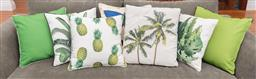 Sale 9191H - Lot 35 - Collection of various tropical themed cushions, largest 45 x 45 cm