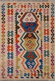 Sale 8455C - Lot 37 - Afghan Chobi Kilim 175cm x 129cm