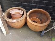 Sale 8601 - Lot 1258 - 12 Terracotta Pots