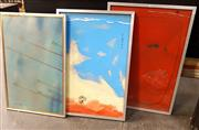 Sale 8678 - Lot 2049 - Clive Moore (3 works): Moody Sunset Cape York; A Red They Wouldnt Believe & Hate to be Out on the Reef Tonight 1977, oils on board,...
