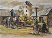 Sale 8722 - Lot 597 - John Cornwell (1930 - ) - The Infernal Machines in the Farmyard 43.5 x 58.5cm